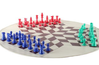 3-player Chess Set with Board and Bag