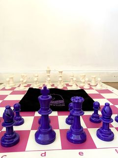 3 x NEW - pink & purple Tournament Chess Set