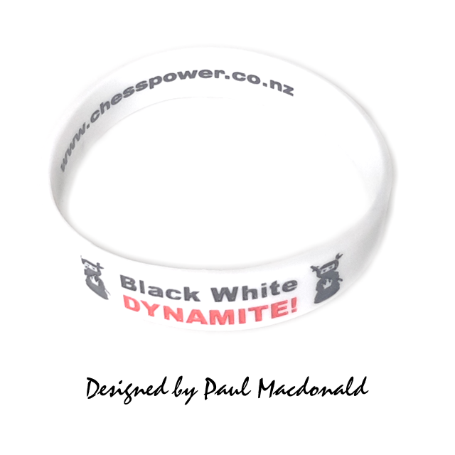 Chess Power White Rating Wristband